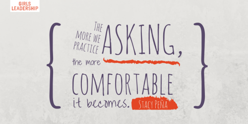 The more we practice asking, the more comfortable it becomes.