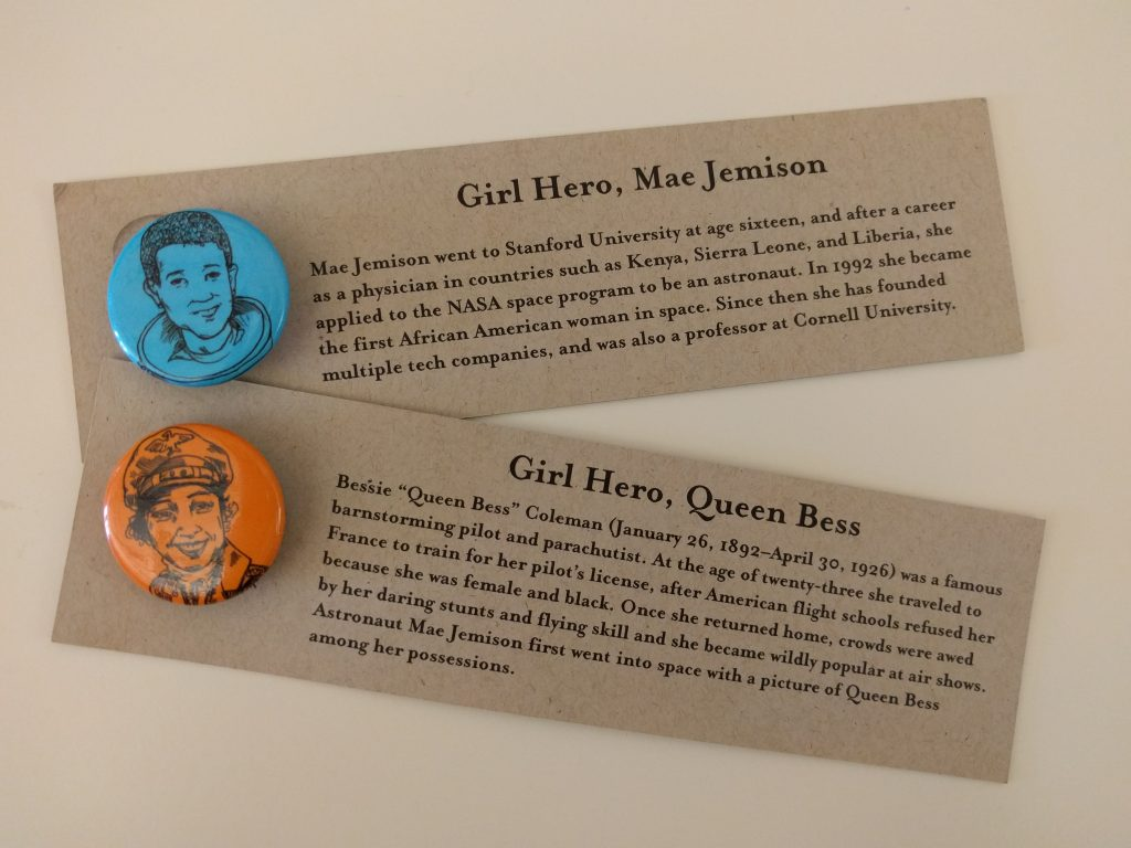 Gutsy Girl Buttons Mae Jemison Queen Bess