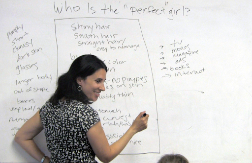 """Author Michelle Cove leads activity about media's """"perfect girl"""" in 2014"""
